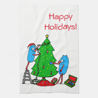 Happy Holidays christmas towel autism charity