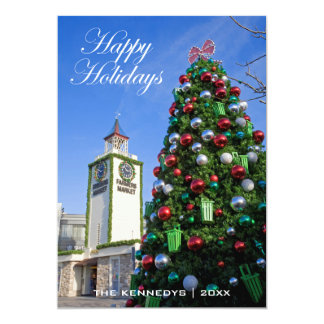 Happy Holidays - Christmas Tree at Farmers Market 13 Cm X 18 Cm Invitation Card