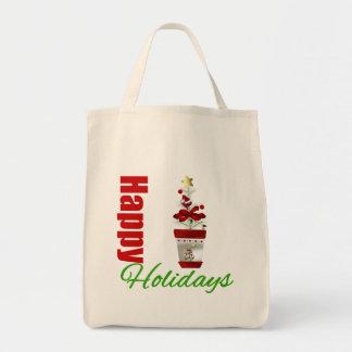 Happy Holidays Christmas Tree Plant Tote Bag