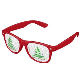 HAPPY HOLIDAYS CHRISTMAS TREE RETRO SUNGLASSES