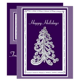 Happy Holidays Christmas Tree with Photo Template 11 Cm X 14 Cm Invitation Card