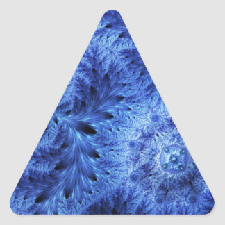 Happy Holidays, Christmas winter frost snowflake Triangle Sticker