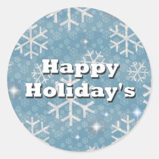 Happy Holiday's Classic Round Sticker