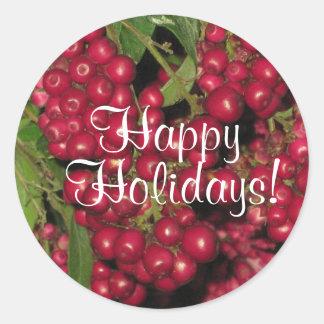 Happy Holidays! Classic Round Sticker