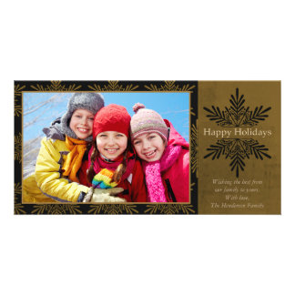 Happy Holidays Classic Snowflake Card
