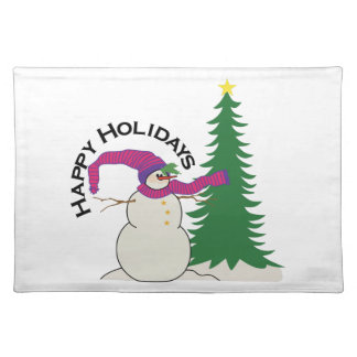 Happy Holidays Place Mat