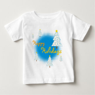 Happy Holidays - colorful Christmas trees T-shirt