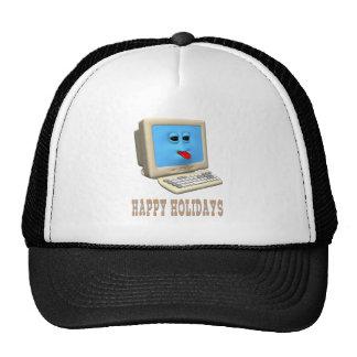 HAPPY HOLIDAYS COMPUTER GREETING HAT