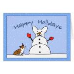 Happy Holidays Corgi Christmas Card