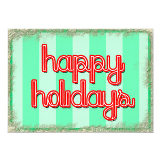happy holidays corporate customize red green 13 cm x 18 cm invitation card