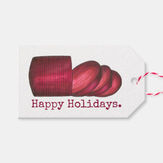 Happy Holidays Cranberry Sauce Christmas Gift Tag
