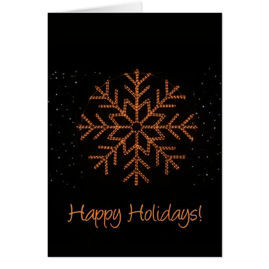 Happy Holidays! Crystal Lights Card
