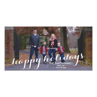 Happy Holidays Custom Christmas Photo Card