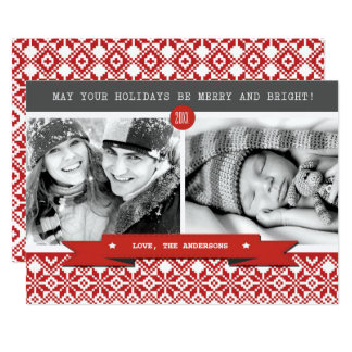 Happy Holidays. Custom Christmas Photo Cards 13 Cm X 18 Cm Invitation Card