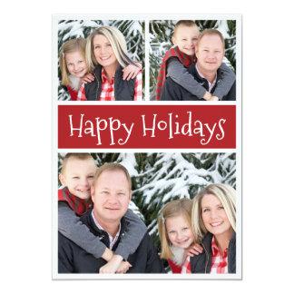 Happy Holidays Custom Photos and Text Christmas 13 Cm X 18 Cm Invitation Card