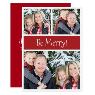 Happy Holidays Custom Text and Photos Christmas 13 Cm X 18 Cm Invitation Card