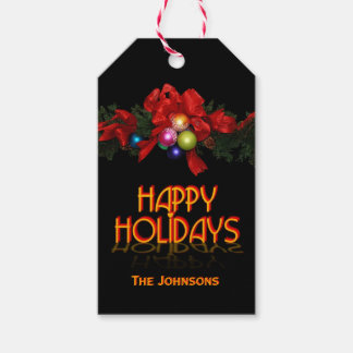 Happy Holidays (customizable) Gift Tags