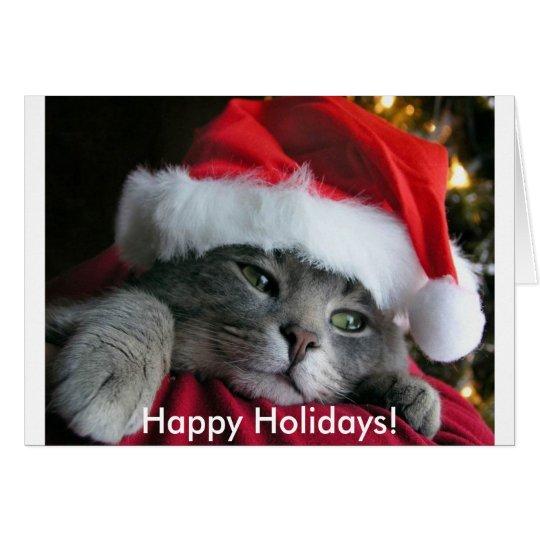 Happy Holidays! Cute Kitten Card