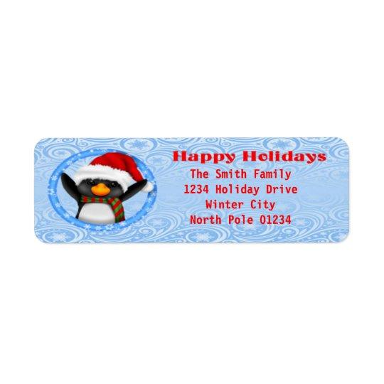 Happy Holidays Cute Penguin
