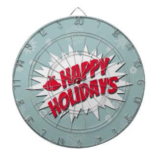 Happy Holidays Dartboard