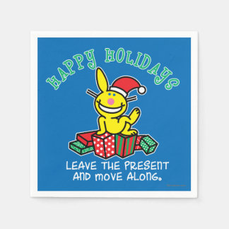 Happy Holidays Disposable Napkins