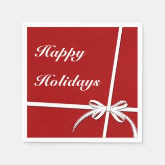 Happy Holidays Disposable Serviettes