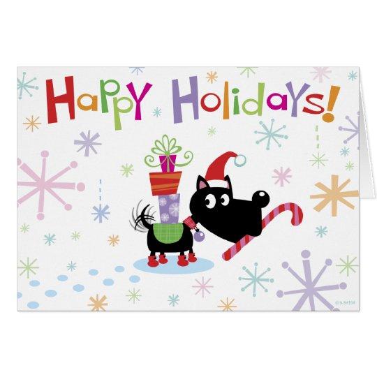 Happy Holidays! dog card