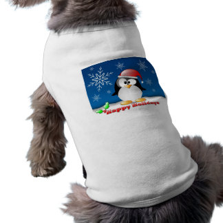 Happy Holidays Doggie Ribbed Tank Top