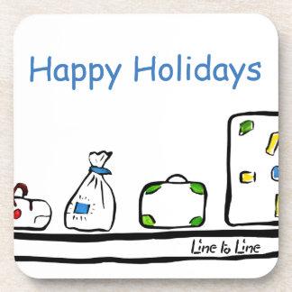 Happy Holidays Drink Coasters