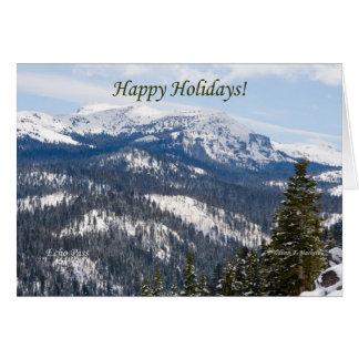 Happy Holidays, Echo Pass, Lake Tahoe California Greeting Card