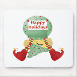 Happy Holidays Elf Mousepads