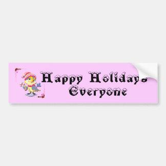 Happy Holidays Everyone Bumper Sticker Car Bumper Sticker