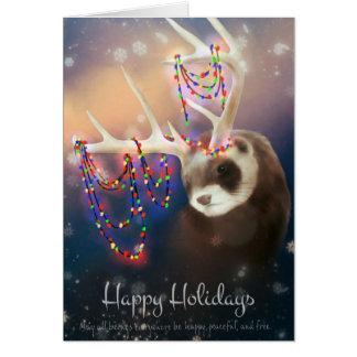 Happy Holidays Ferret Greeting Card