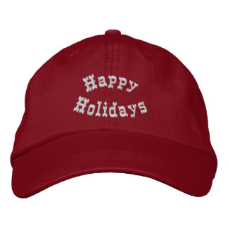 Happy Holidays Festive Embroidered Hat