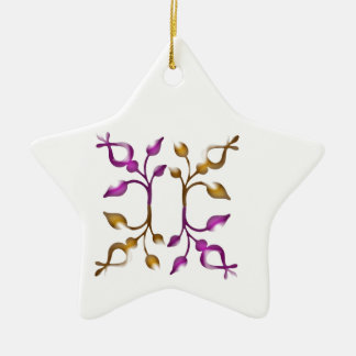 Happy HOLIDAYS Floral JEWEL Decorations Christmas Ornament