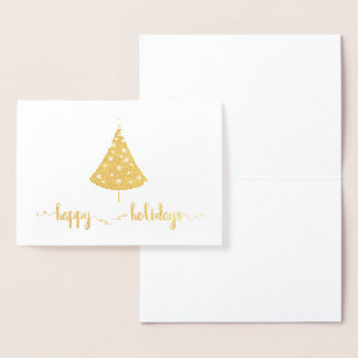 Happy Holidays Foil Christmas Tree Card