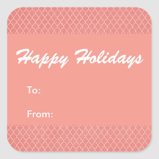 Happy Holidays Foil Red Square Sticker