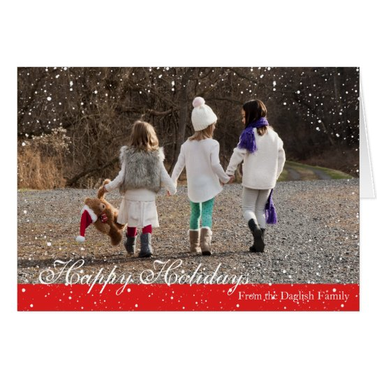 Happy Holidays Friends Snow Design Card