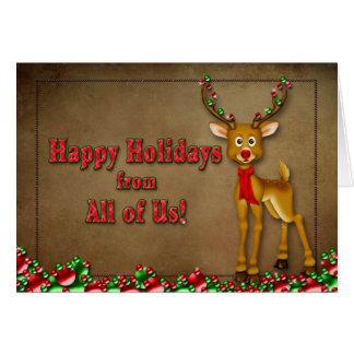 Happy Holidays - From All of Us - Multi-Purpose Greeting Card