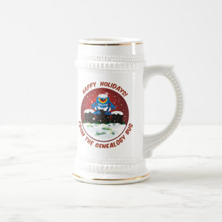 Happy Holidays From Genealogy Bug 18 Oz Beer Stein