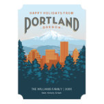 Happy Holidays from Portland 13 Cm X 18 Cm Invitation Card