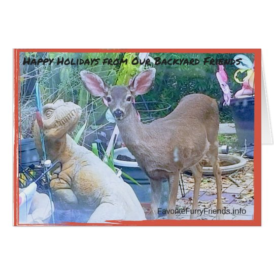Happy Holidays from Reindeer, Friend GREETING CARD