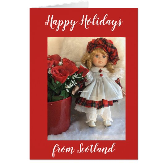 Happy Holidays from Scotland2 Card