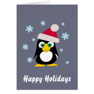 Happy Holidays from Snowy Penguin Greeting Cards
