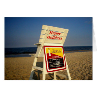 Happy Holidays from the Beach Card