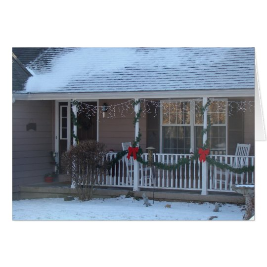 Happy Holidays, Front Porch Card
