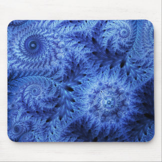 Happy Holidays frost mousepad snowflake snow blue
