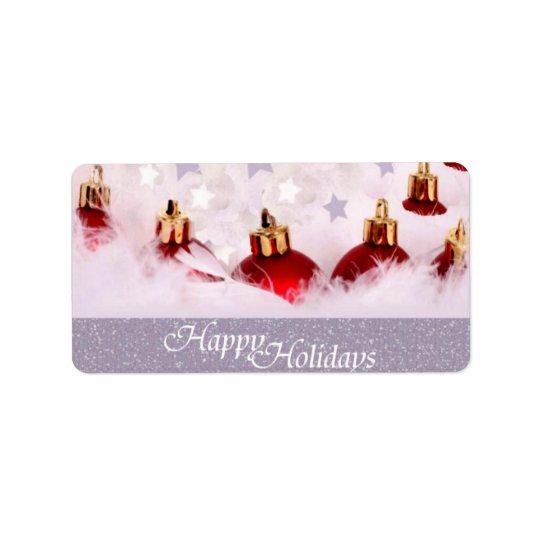 Happy Holidays Gift Tag Address Label