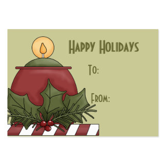 Happy Holidays Gift Tags Pack Of Chubby Business Cards
