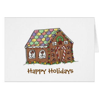 Happy Holidays Gingerbread House Card